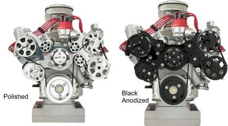 Billet Specialties Ford FE Standard Tru Trac Serpentine Kit