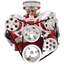 Billet Specialties SBC V-Trac Pulley Kit W/AC