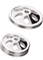 Billet Specialties V-Groove Power Steering Pulleys- Keyway