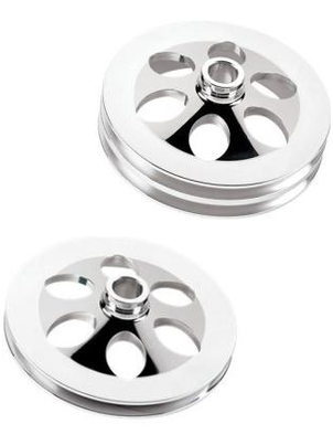 Billet Specialties V-Groove Power Steering Pulleys-Press-On