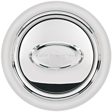Billet Specialties Polished Logo Pro-Style Horn Button