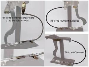 Lokar Under Dash Connector Cables for Original Hand Brakes