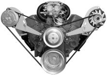 Alan Grove SBC SWP Low Profile Vette/Camaro Brackets