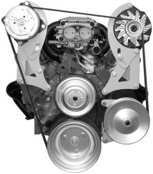 Alan Grove SBC LWP Air and Alternator Serpentine System Bracket