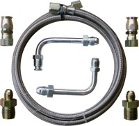 Gotta Show Ford or GM Stainless Steel Trans Cooler Hose Kit