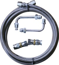 Gotta Show Ford Stainless Steel Trans Cooler Hose Kit
