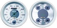 Classic Instruments All American Series 2 Gauge 5 Inch Speedtachular/Quad Set