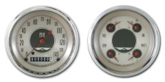 Classic Instruments All American Nickle Series 2 Gauge Speedo/Quad Set