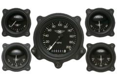 Classic Instruments 5 Gauge Bomber Series Set w/Bezels