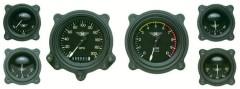 Classic Instruments 6 Gauge Bomber Series Set w/Bezels