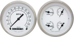 Classic Instruments Classic White Series 2 Gauge Speedo/Quad Set