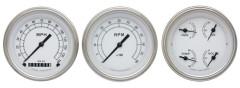 Classic Instruments Classic White Series 3 Gauge Speedo/Tach/Quad Set