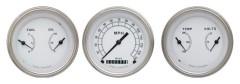 Classic Instruments Classic White Series 3 Gauge Speedo/2 Duals Set