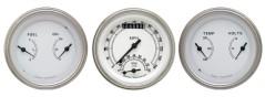 Classic Instruments 3 Gauge Classic White Speedtachular Set
