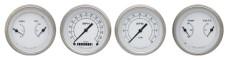 Classic Instruments Classic White Series 4 Gauge Speedo/Tach/Dual Quads Set