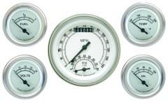 Classic Instruments Classic White Series 5 Gauge Speedtachular Set