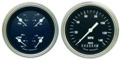 Classic Instruments Hot Rod Series 2 Gauge Speedo/Qaud Set