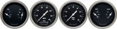 Classic Instruments Hot Rod Series 4 Gauge Speedo/Tach/Quad Set