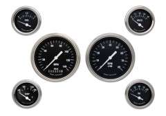 Classic Instruments Hot Rod Series 6 Gauge Speedo/Tach Set