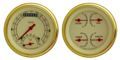 Classic Instruments Vintage Gold Series 2 Gauge Speedtachular Set