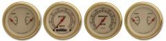 Classic Instruments Vintage Gold Series 4 Gauge Speedo/Tach/2Duals Set