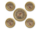 Classic Instruments Vintage Gold Series 5 Gauge Speedo/Fuel/Oil/Temp/Volts Set