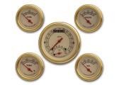 Classic Instruments Vintage Gold Series 5 Gauge Speedtachular Set