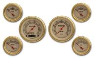 Classic Instruments Vintage Gold Series 6 Gauge Speedo/Tach Set