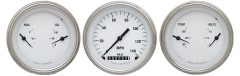 Classic Instruments White Hot Series 3 Gauge Speedo/2 Duals