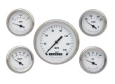 Classic Instruments White Hot Series 5 Gauge Speedo/Fuel/Oil/Temp/Volts Set