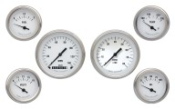 Classic Instruments White Hot Series 6 Gauge Speedo/Tach/Fuel/Oil/Temp/Volts Set