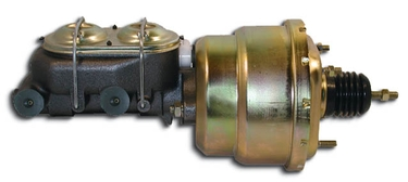 Dual Diaphragm 7 Inch Plain Brake Booster Combo with Master Cylinder