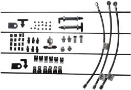 Pure Choice Motorsports Stainless Steel AN Brake Line Thru Frame Kit