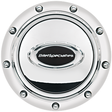 Billet Specialties Black Logo Pro-Style Horn Button