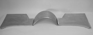 Direct Sheetmetal 1955-1957 Chevy Toeboard and Transmission  Cover