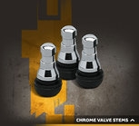 Rocket Racing Wheels Chrome Sleeve Valve Stems