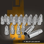 Rocket Racing Wheels Bullet Lug Nuts and Lock Kit