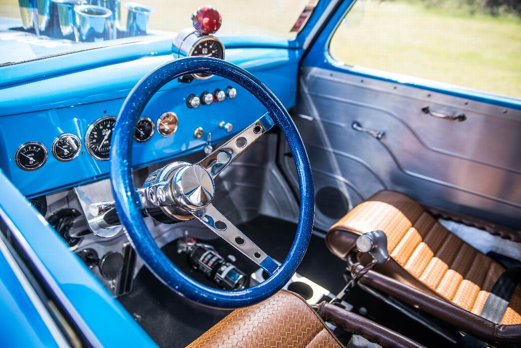 The interior detail of the 1941 Willy's