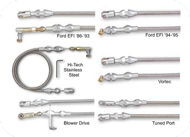 Lokar Hi-Tech Throttle Cables-GM and Ford