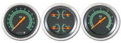 Classic Instruments G-Stock Series 3 Gauge Speedo/Quad/Tach Set