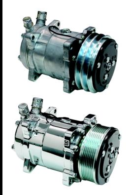Sanden SD508 Compressor - V-Belt or Serpentine