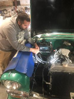 Putting Phenix Fuel Line Plumbing on the 56 Chevy